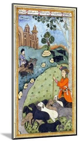 Miniature from Yusuf and Zalikha (Legend of Joseph and Potiphar's Wif) by Jami, Ca 1683-1685--Mounted Giclee Print