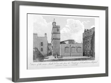 South and East Sides of the Church of St Bartholomew-The-Less, City of London, 1834--Framed Art Print