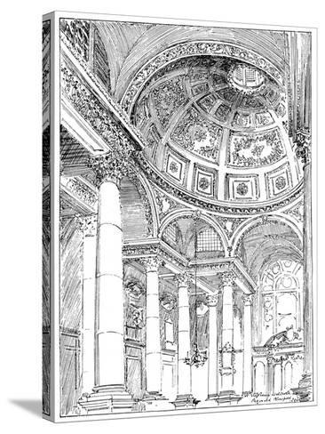 St Stephen's Walbrook, 1899-Reginald Blomfield-Stretched Canvas Print