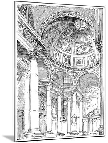 St Stephen's Walbrook, 1899-Reginald Blomfield-Mounted Giclee Print