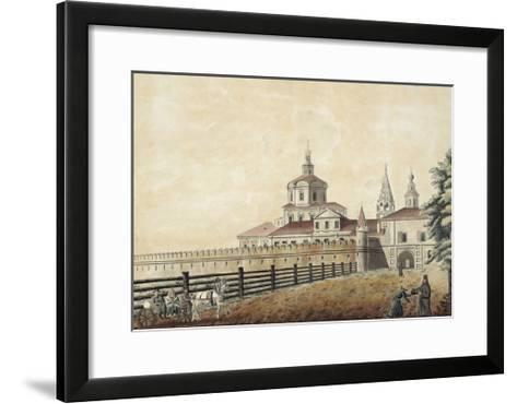 The St. Andronik Monastery in Moscow, 1780S-Francesco Camporesi-Framed Art Print