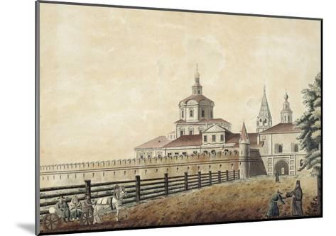 The St. Andronik Monastery in Moscow, 1780S-Francesco Camporesi-Mounted Giclee Print