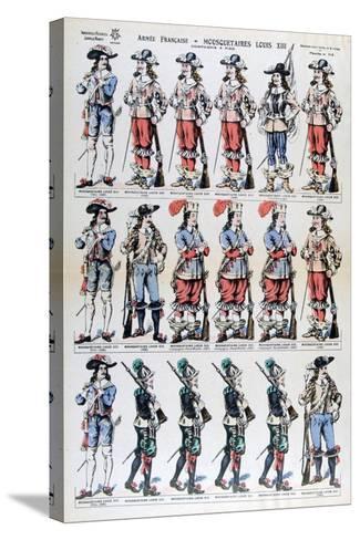 French Army, Musketeers of Louis XIII, 17th Century--Stretched Canvas Print