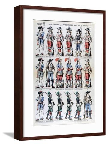 French Army, Musketeers of Louis XIII, 17th Century--Framed Art Print