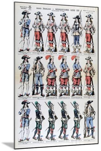 French Army, Musketeers of Louis XIII, 17th Century--Mounted Giclee Print