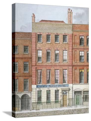 Eastey's Family Hotel, Southampton Street, Westminster, London, C1801--Stretched Canvas Print