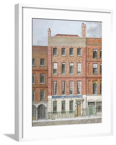 Eastey's Family Hotel, Southampton Street, Westminster, London, C1801--Framed Art Print