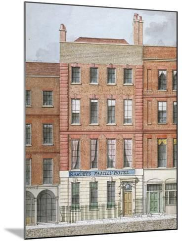 Eastey's Family Hotel, Southampton Street, Westminster, London, C1801--Mounted Giclee Print