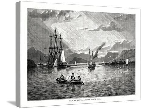 View of Punta Arenas, Costa Rica, 1877--Stretched Canvas Print