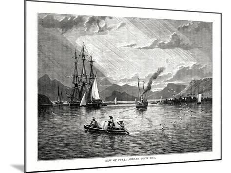 View of Punta Arenas, Costa Rica, 1877--Mounted Giclee Print