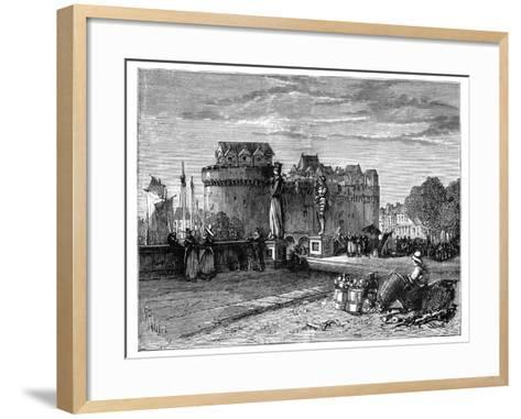 Nantes, on the Loire, France, C1890--Framed Art Print