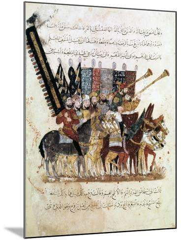 Troop of Horsemen at a Religious Ceremony, C1240--Mounted Giclee Print