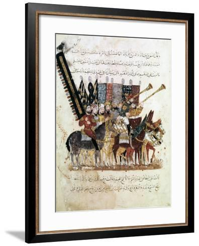 Troop of Horsemen at a Religious Ceremony, C1240--Framed Art Print