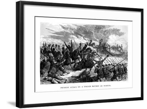 Prussian Attack on a French Battery at Woerth, 1793--Framed Art Print