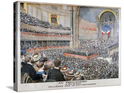 Festival of State Schools Organised by the Government at the Trocadero in Paris, 1904--Stretched Canvas Print