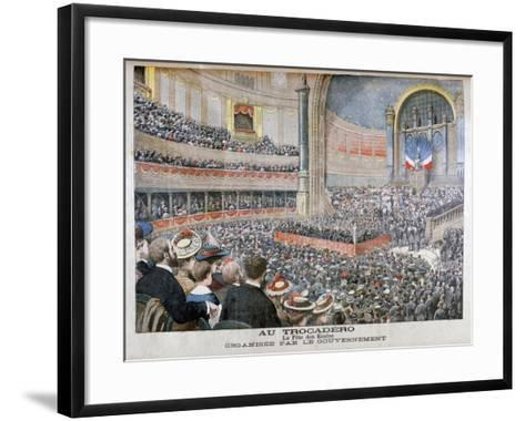 Festival of State Schools Organised by the Government at the Trocadero in Paris, 1904--Framed Art Print