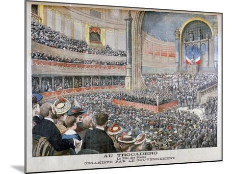 Festival of State Schools Organised by the Government at the Trocadero in Paris, 1904--Mounted Giclee Print