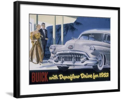 Poster Advertising a Buick, 1952--Framed Art Print
