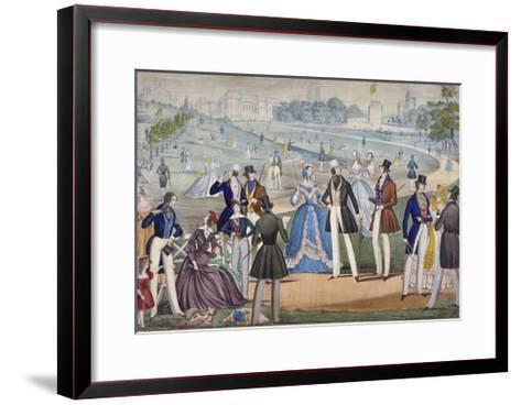 View of St James's Park from Green Park, Westminster, 1820-Benjamin Read-Framed Art Print