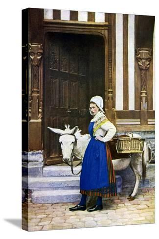 A Woman of Normandy, France, C1922--Stretched Canvas Print
