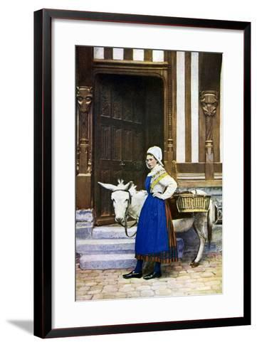 A Woman of Normandy, France, C1922--Framed Art Print