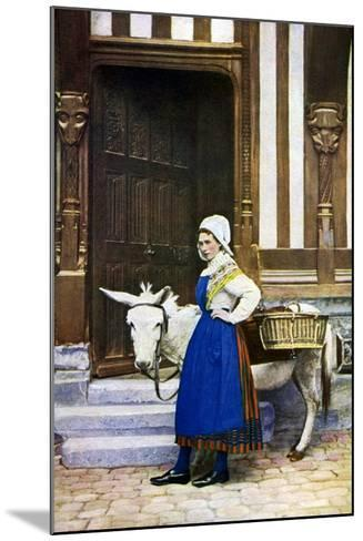 A Woman of Normandy, France, C1922--Mounted Giclee Print
