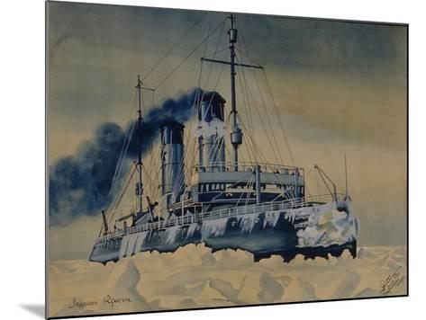 Icebreaker Krasin Among Ice Floes in the Barents Sea, 1932--Mounted Giclee Print