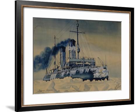 Icebreaker Krasin Among Ice Floes in the Barents Sea, 1932--Framed Art Print