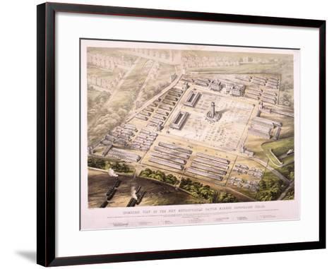 Metropolitan Cattle Market, London, 1855--Framed Art Print