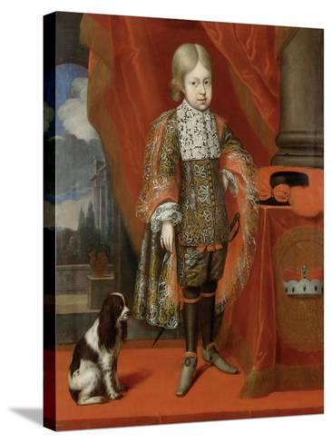 The Future Emperor Joseph I (1678-171) at the Age of Six with a Dog, 1684, 1684-Benjamin von Block-Stretched Canvas Print