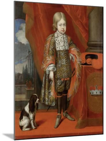 The Future Emperor Joseph I (1678-171) at the Age of Six with a Dog, 1684, 1684-Benjamin von Block-Mounted Giclee Print