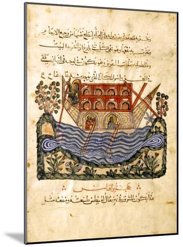 A Ferry (Folio from an Arabic Translation of the Materia Medica by Dioscoride), 1224- Abd as-Samad-Mounted Giclee Print