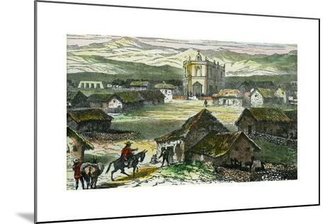 View of Tiahuanaco, Near Lake Titicaca, Bolivia, C1880--Mounted Giclee Print