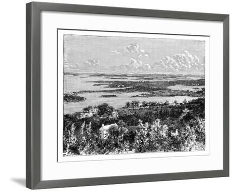 View Taken from Gibb's Hill, Bermudas, C1890--Framed Art Print