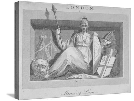 Sculptural Panel in Mincing Lane, City of London, 1815--Stretched Canvas Print