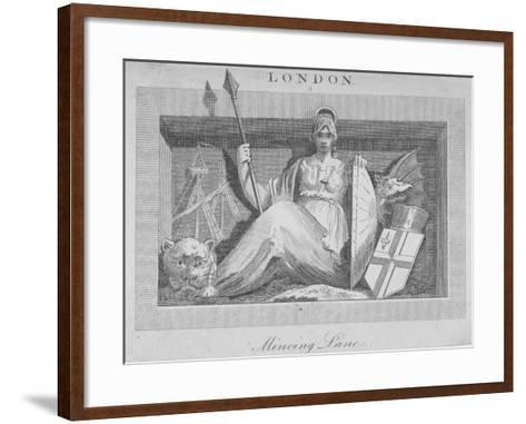 Sculptural Panel in Mincing Lane, City of London, 1815--Framed Art Print