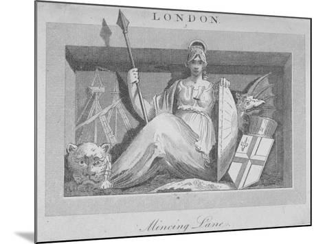 Sculptural Panel in Mincing Lane, City of London, 1815--Mounted Giclee Print
