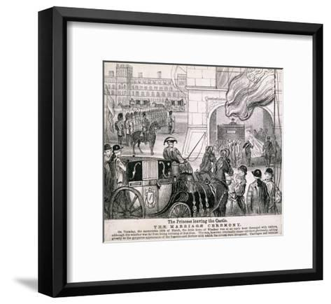 Princess Alexandra Getting in Her Coach to Leave Windsor Castle for Her Wedding, March 1863--Framed Art Print