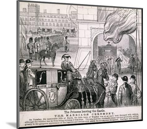 Princess Alexandra Getting in Her Coach to Leave Windsor Castle for Her Wedding, March 1863--Mounted Giclee Print