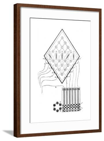Diagram of William Cooke and Charles Wheatstone's Five-Needle Telegraph, 1837--Framed Art Print