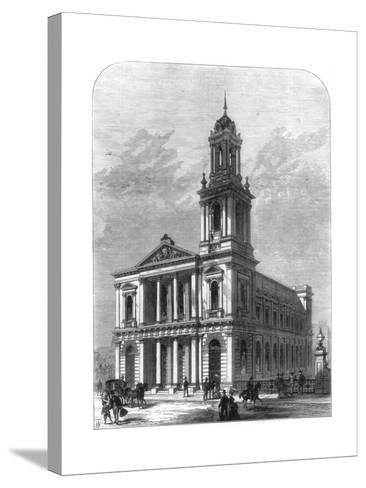 The City Temple, Holborn Viaduct, London, 1875--Stretched Canvas Print