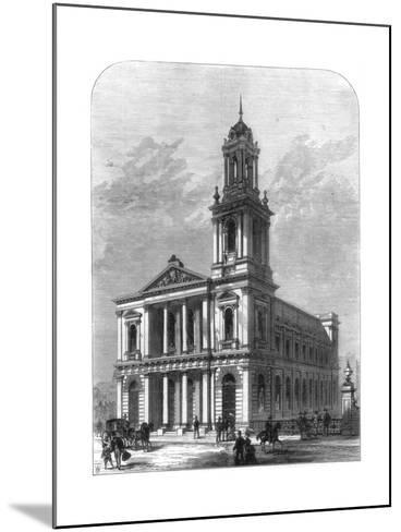 The City Temple, Holborn Viaduct, London, 1875--Mounted Giclee Print
