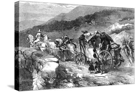The Stage-Coach of the Last Century, 1855-John Gilbert-Stretched Canvas Print
