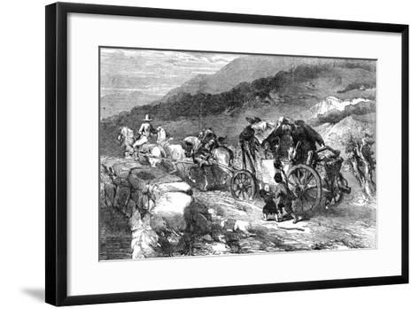 The Stage-Coach of the Last Century, 1855-John Gilbert-Framed Art Print