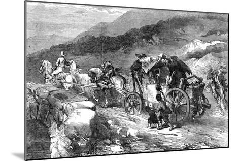 The Stage-Coach of the Last Century, 1855-John Gilbert-Mounted Giclee Print