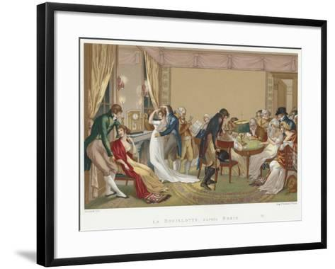 Ladies and Gentlemen Playing La Bouillotte, France, C1804-1814-Jean Francois Bosio-Framed Art Print
