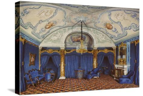 Interiors of the Winter Palace, the Fourth Reserved Apartment, a Bedroom, 1868-Eduard Hau-Stretched Canvas Print