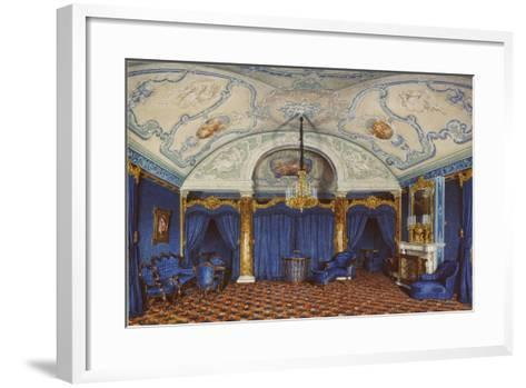 Interiors of the Winter Palace, the Fourth Reserved Apartment, a Bedroom, 1868-Eduard Hau-Framed Art Print