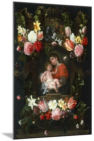 Garland of Flowers with Madonna and Child, First Third of 17th C-Daniel Seghers-Mounted Giclee Print