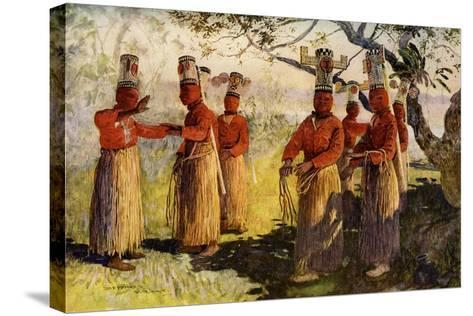 Masked Dancers of Opaina, River Apaporis, Brazil--Stretched Canvas Print